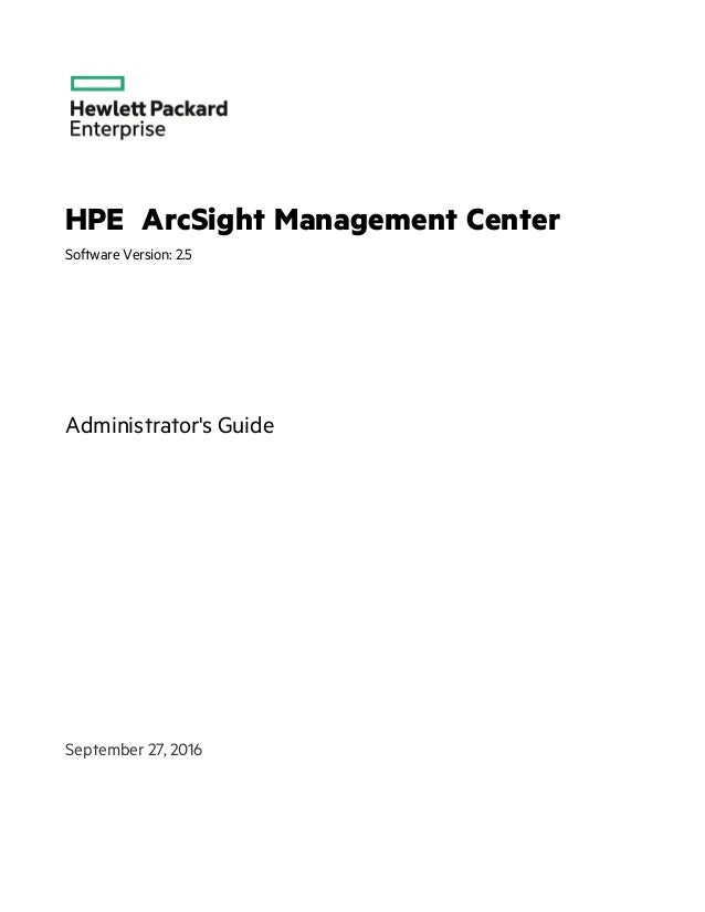 ArcSight Management Center 2 5 Administrator's Guide