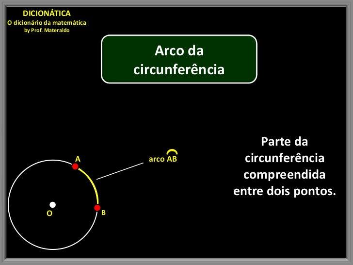 DICIONÁTICAO dicionário da matemática     by Prof. Materaldo                                      Arco da                 ...