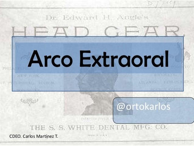 Arco Extraoral @ortokarlos CDEO. Carlos Martínez T. 1