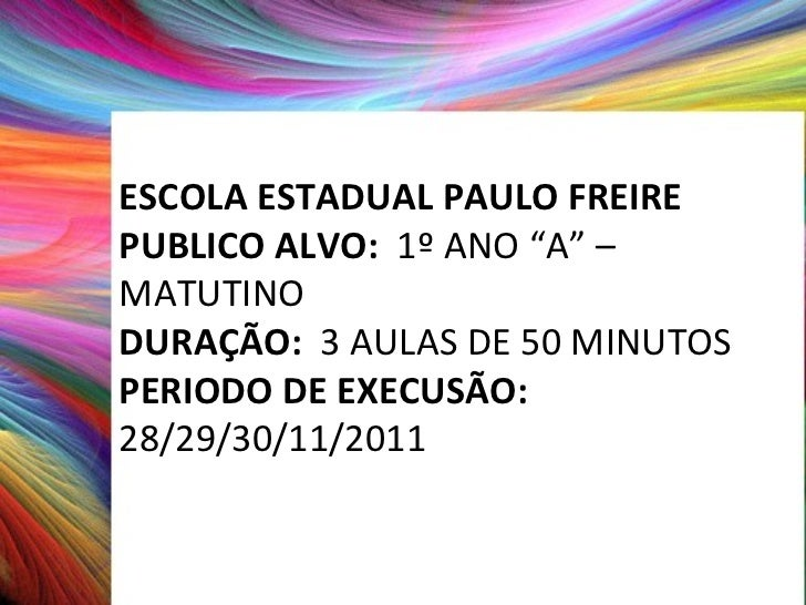 Projeto Arco iris Slide 2