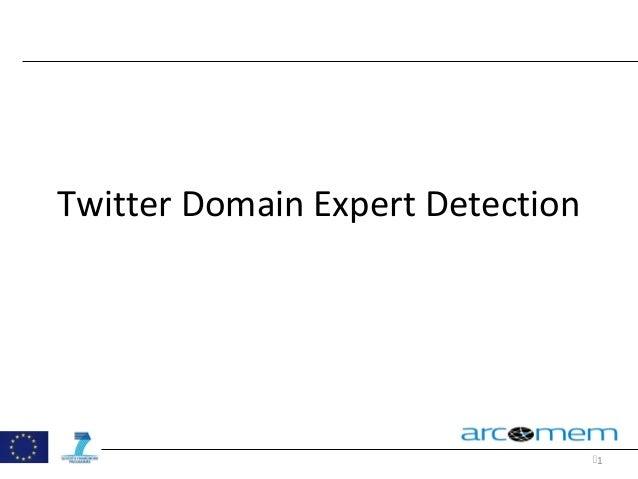 1 Twitter Domain Expert Detection