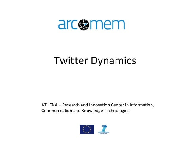 Twitter Dynamics ATHENA – Research and Innovation Center in Information, Communication and Knowledge Technologies