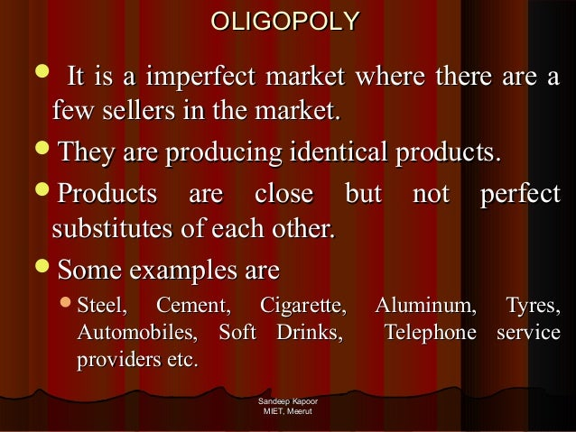 oligopolies perfect competition and hugo a Suppose the busy bee cafe is a monopolist in the hamburger market in hugo, oklahoma  non-colluding oligopolies 2 perfect competition 3 monopolistic.