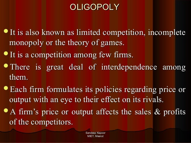 tobacco oligopoly Models of oligopoly behavior, however, have less clear implications for the he concluded that the tax increase led to the taxation of tobacco products.