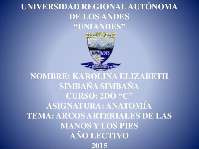 """UNIVERSIDAD REGIONALAUTÓNOMA DE LOS ANDES """"UNIANDES"""" NOMBRE: KAROLINA ELIZABETH SIMBAÑA SIMBAÑA CURSO: 2DO """"C"""" ASIGNATURA:..."""