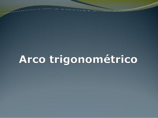 Arco trigonométrico  Até aqui marcamos no ciclo trigonométrico imagens de números reais do intervalo [–2π, 2π[. São os nú...