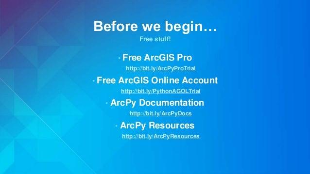 Arcpy overview slides Slide 2