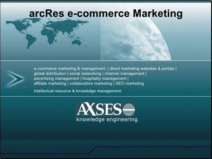 knowledge engineering arcRes e-commerce Marketing e-commerce marketing & management  | direct marketing websites & portals...