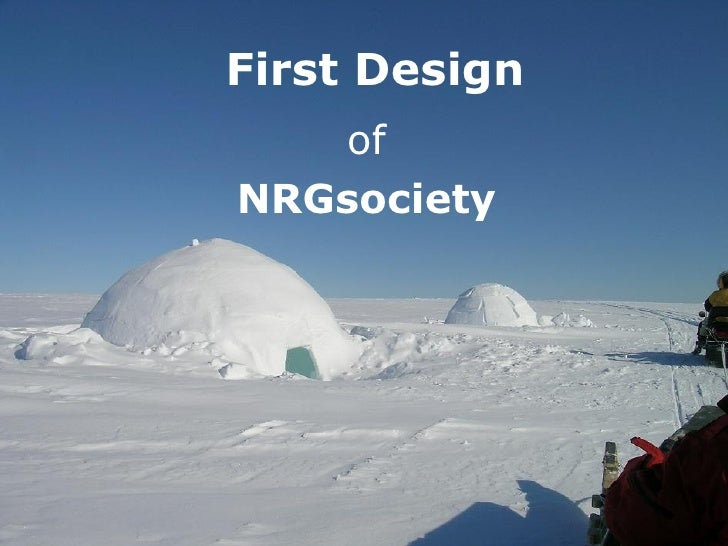 First Design of NRGsociety