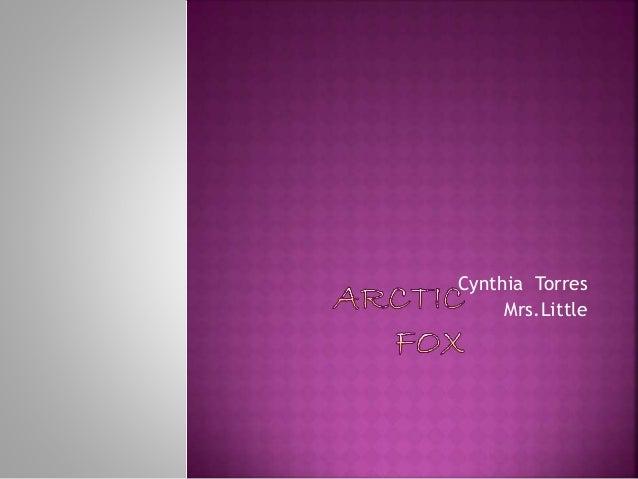Cynthia Torres Mrs.Little
