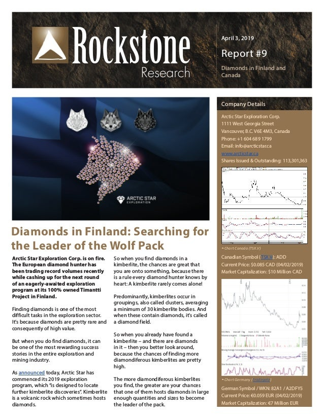 Arctic Star Rockstone Research Updated April 2019 - ADD-V