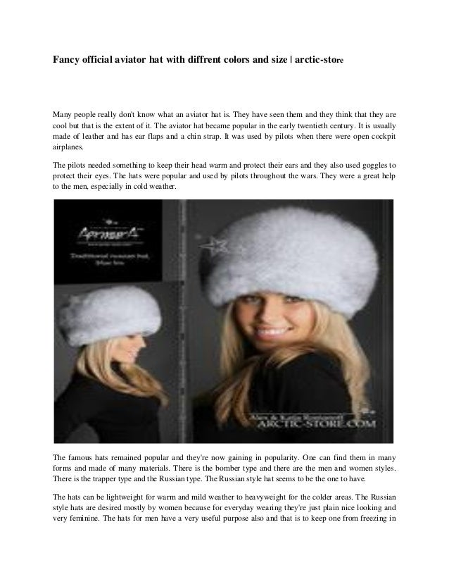 48e8d5b5 Fancy official aviator hat with diffrent colors and size   arctic-store
