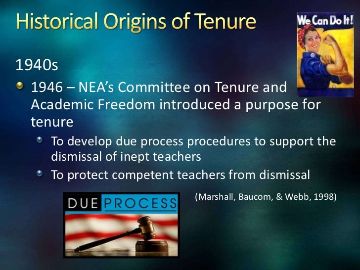 Dissertation and dismissal of tenured teachers