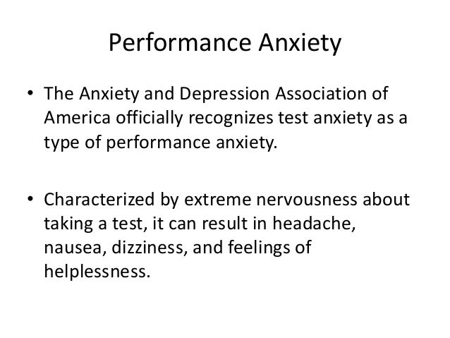 extreme performance anxiety