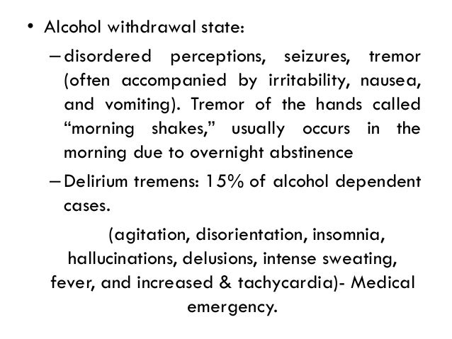 Alcohol Related Disorders