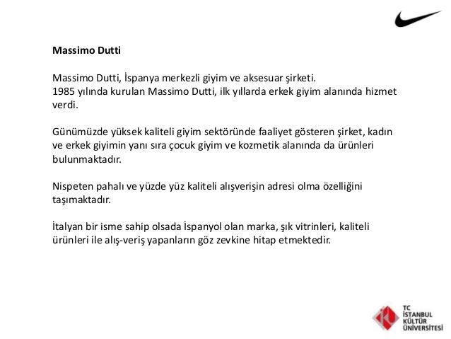 Massimo Dutti Massimo Dutti, İspanya merkezli giyim ve aksesuar şirketi. 1985 yılında kurulan Massimo Dutti, ilk yıllarda ...