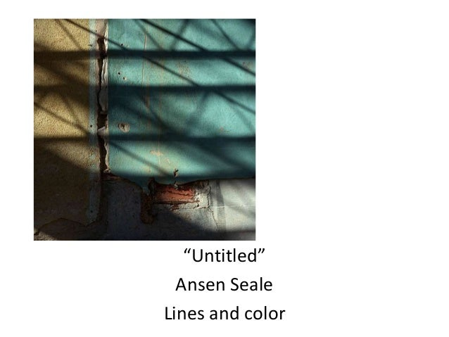 """Untitled"" Ansen Seale Lines and color"