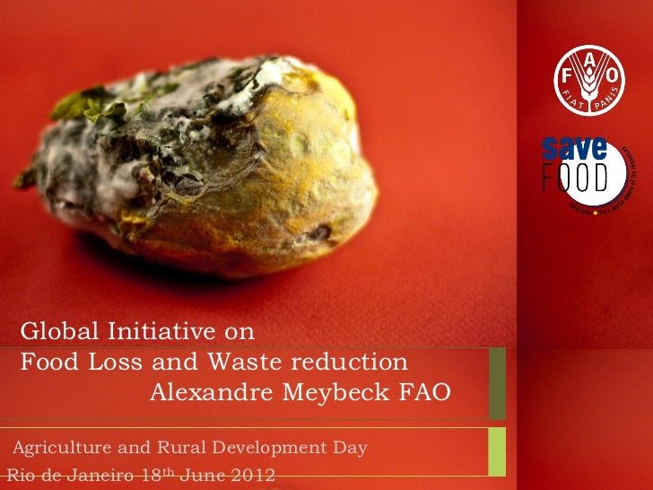 Global Initiative on Food Loss and Waste reduction            Alexandre Meybeck FAOAgriculture and Rural Development DayRi...