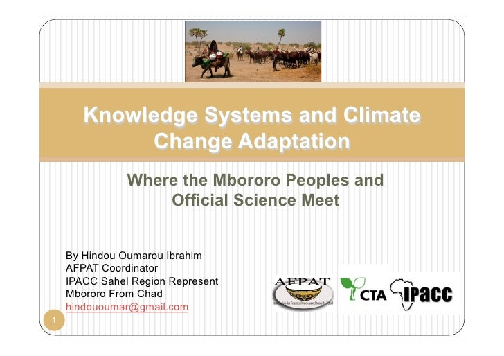 Knowledge Systems and Climate            Change Adaptation               Where the Mbororo Peoples and                   O...
