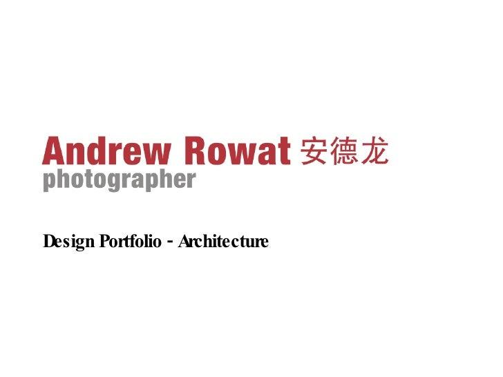<ul><li>Design Portfolio - Architecture </li></ul>