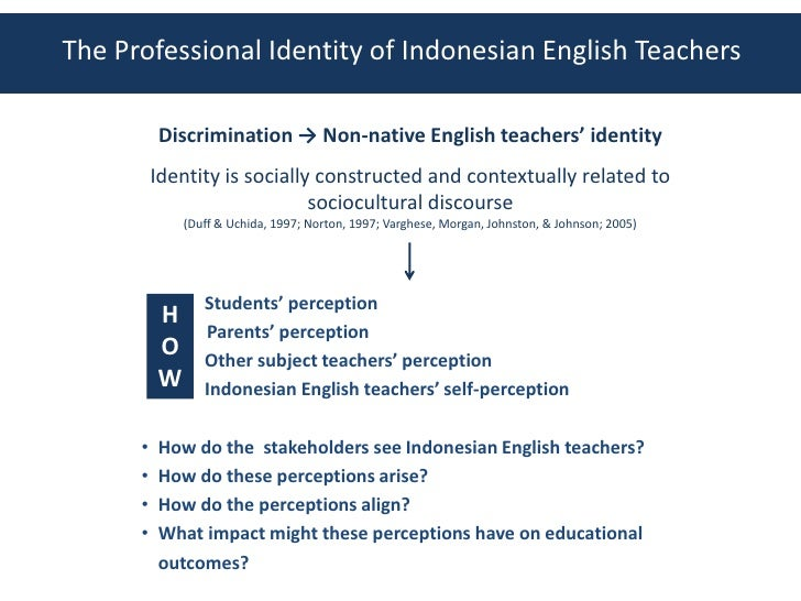 teachers identity Research on teachers' professional identity formation is seen as relevant to teacher educators and mentors in schools in order to better understand and conceptualize the support student teachers need (cf volkmann & anderson, 1998.