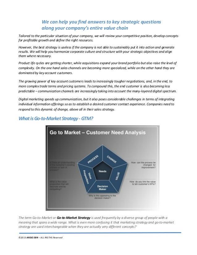 ARDIZ Go to-Market - Get ready to hit the market Slide 3