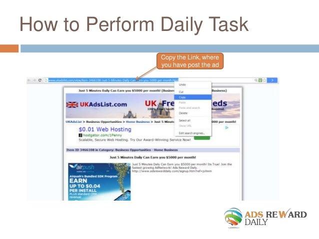 Ads Reward Daily Slide Show