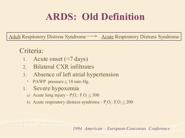 Pediatric Acute Respiratory Distress Syndrome  Slide 2