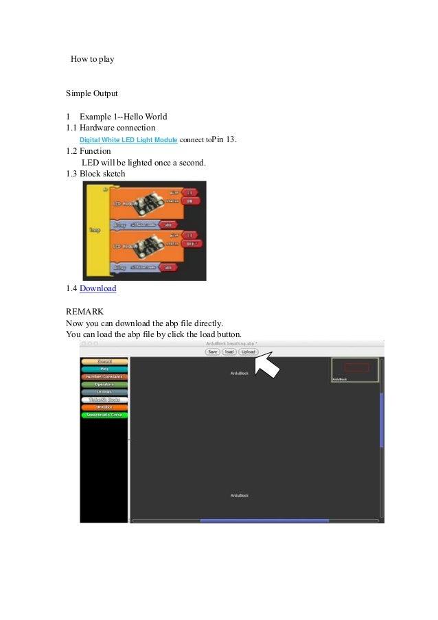 Ardublock tutorial