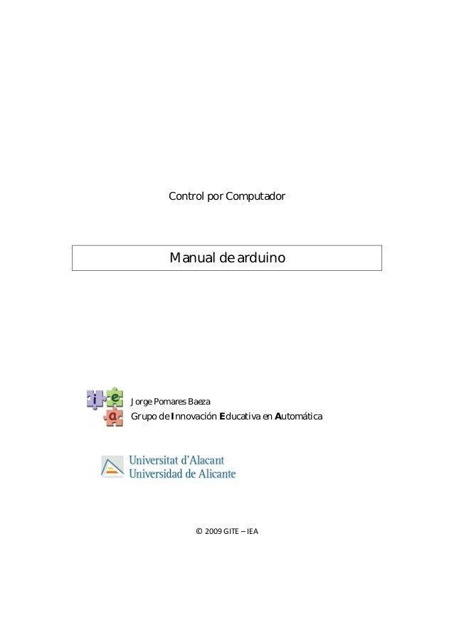 Control por Computador                     Manual de arduino            Jorge Pomares ...