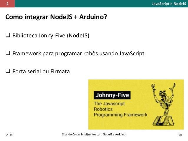 Criando Coisas Inteligentes com NodeJS e Arduino