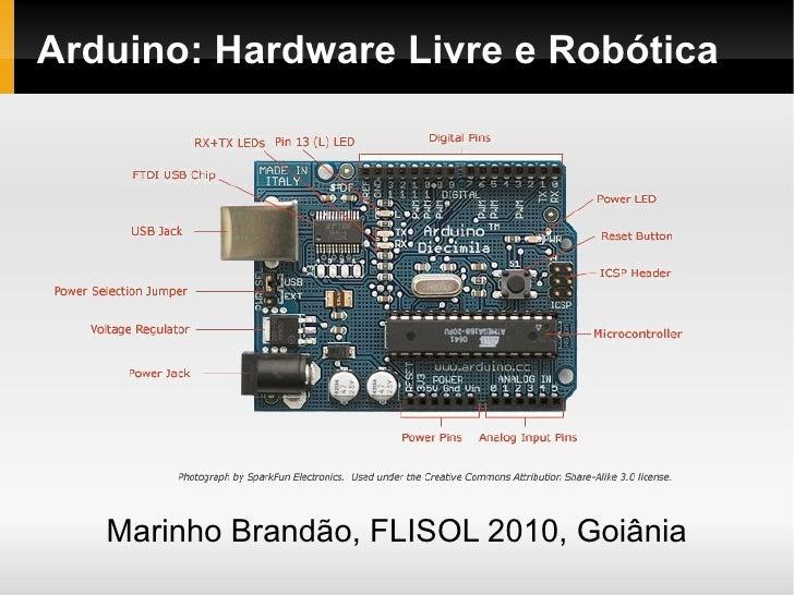 Arduino: Hardware Livre e Robótica        Marinho Brandão, FLISOL 2010, Goiânia