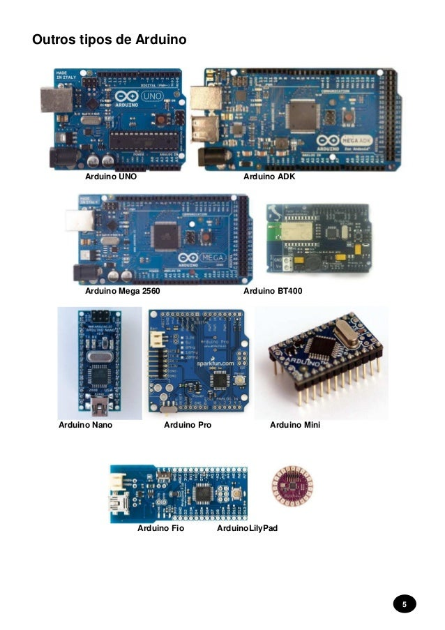 Arduino introdução projectos
