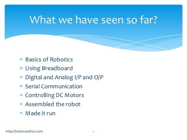 Arduino Robotics workshop day2 Slide 2