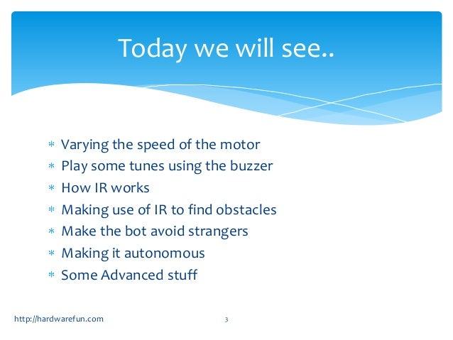 Arduino Robotics workshop day2 Slide 3