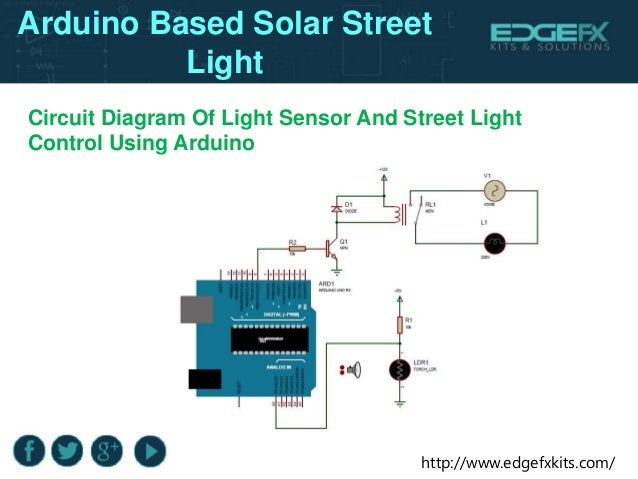 Arduino based solar street light
