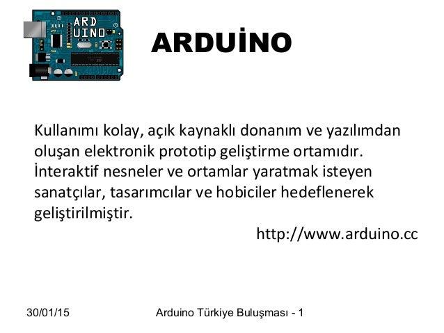 Arduino hakkında Slide 2