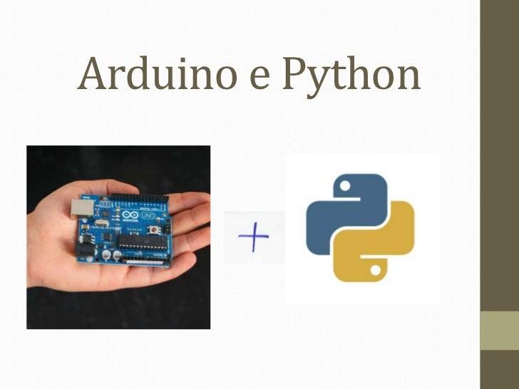 Arduino e Python<br />