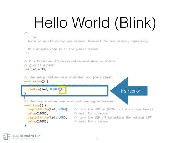 Hello World (Blink) 11 Instruction