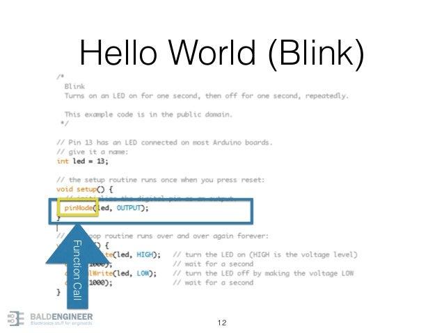 Hello World (Blink) 12 FunctionCall
