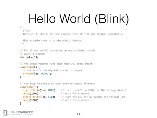 Hello World (Blink) 14