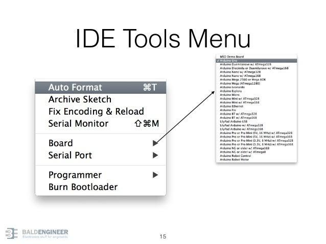 IDE Tools Menu 15