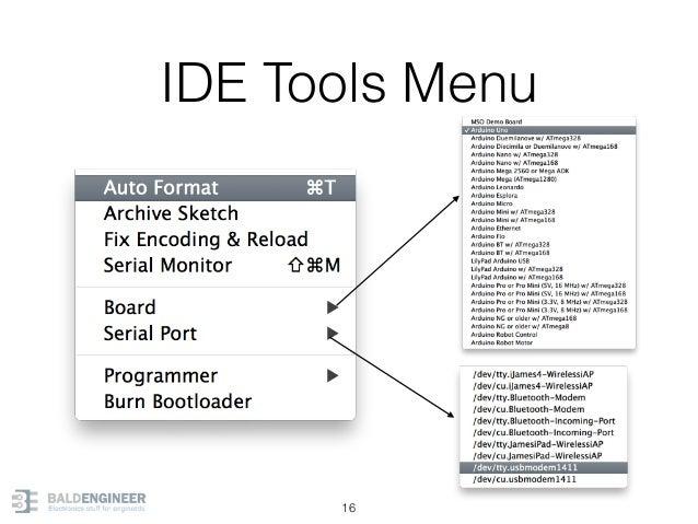 IDE Tools Menu 16