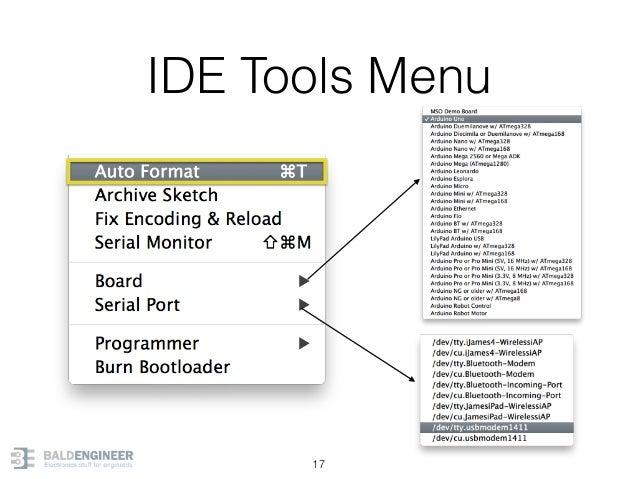 IDE Tools Menu 17