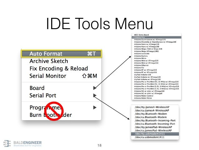 IDE Tools Menu 18