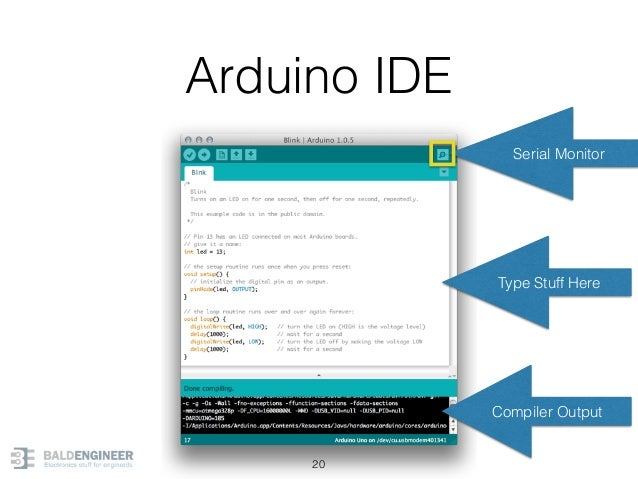Arduino IDE 20 Type Stuff Here Compiler Output Serial Monitor