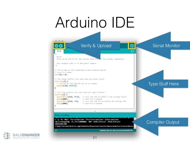 Arduino IDE 21 Type Stuff Here Compiler Output Serial MonitorVerify & Upload