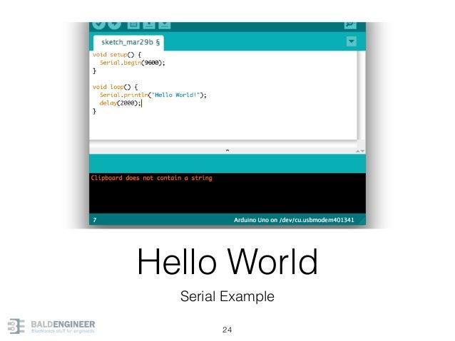 Hello World Serial Example 24