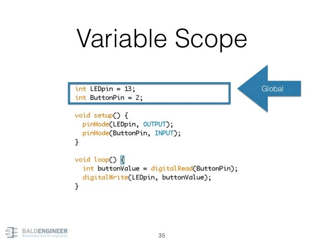 Variable Scope 35 Global