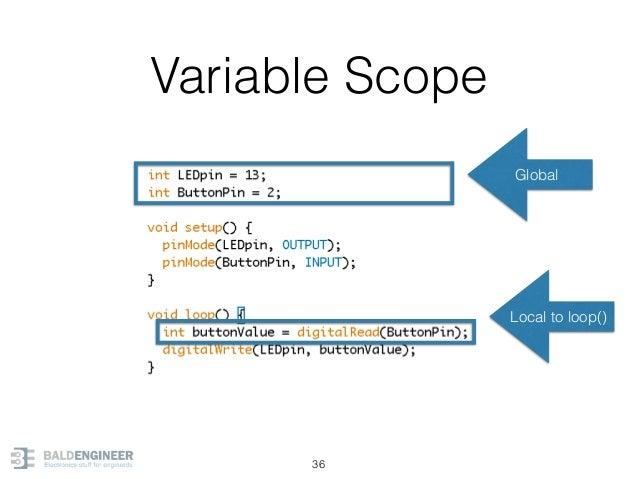 Variable Scope 36 Global Local to loop()